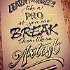 Lern the rules like a pro... Lettering Plakat